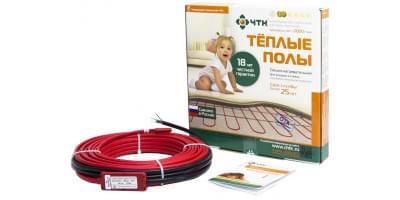 Кабельный теплый пол ЧТК СН-18 Вт/м