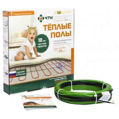 Купить Одножильный кабельный пол ЧТК СНОТ-15-773 Вт (5,2-6,0м2) Тонкий одножильный кабельный пол ЧТК СНОТ-15 Вт/м polvteplo.ru