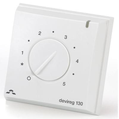 Купить Терморегулятор DEVIreg Д-130 с датчиком пола  Терморегуляторы Devi для теплых полов polvteplo.ru