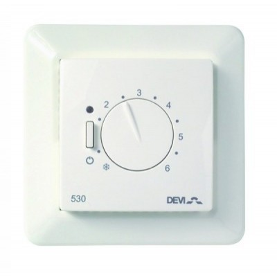 Купить Терморегулятор DEVIreg Д-530 с датчиком пола Терморегуляторы Devi для теплых полов polvteplo.ru