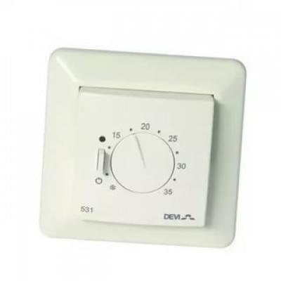 Купить Терморегулятор DEVIreg Д-531 с датчиком воздуха  Терморегуляторы Devi для теплых полов polvteplo.ru