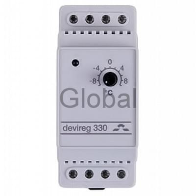 Купить Терморегулятор для греющего кабеля Devireg Д-330, -10°C-+10°C ,с датч. на проводе Терморегулятор для греющего кабеля polvteplo.ru