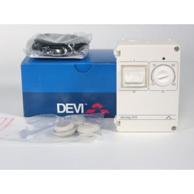 Купить Терморег Devireg Д-610, -10°C-+50°C ,с датч. на проводе  Терморегулятор, метеостанция polvteplo.ru