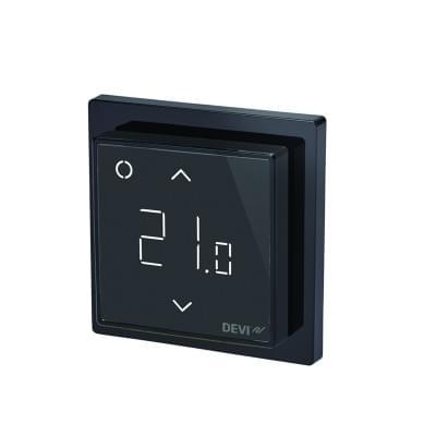 Купить Терморегулятор для теплого пола Devireg Smart Pure Black c WI-FI Терморегуляторы Devi для теплых полов polvteplo.ru