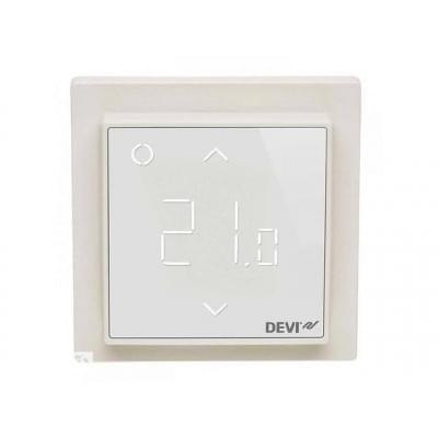 Купить Терморегулятор для теплого пола Devireg Smart Pure White c WI-FI Терморегуляторы Devi для теплых полов polvteplo.ru