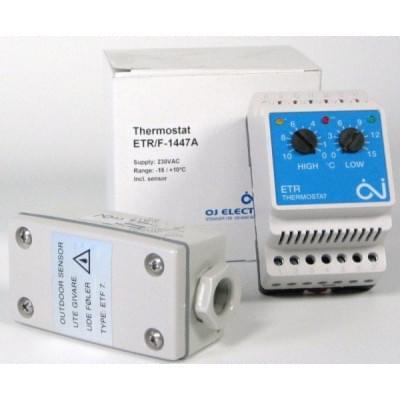Купить Терморегулятор для греющего кабеля OJ Electronics ETR/F-1447A Терморегуляторы OJ Electronics (Microline) для греющего кабеля polvteplo.ru