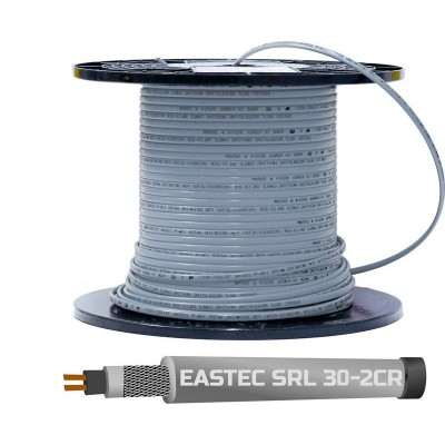Купить Греющий кабель для труб EASTEC SRL 30-2 CR Греющий кабель Eastec на отрез polvteplo.ru