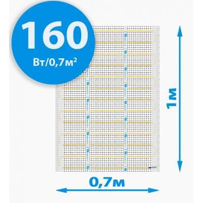 Купить Инфракрасный теплый пол RIM MEDIUM-70 mini 160Вт/0,7м² (70*100см) Теплый пол РИМ polvteplo.ru