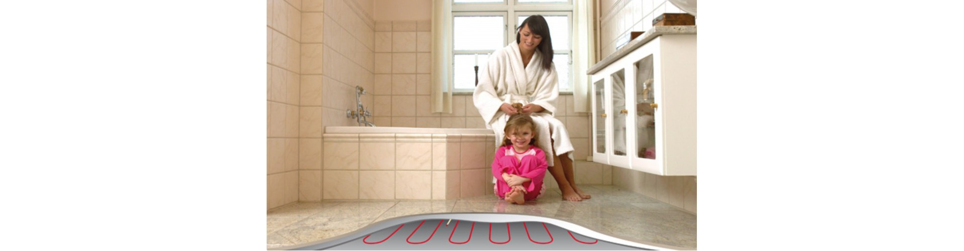 Нагревательный мат - теплый пол в ванной своими руками