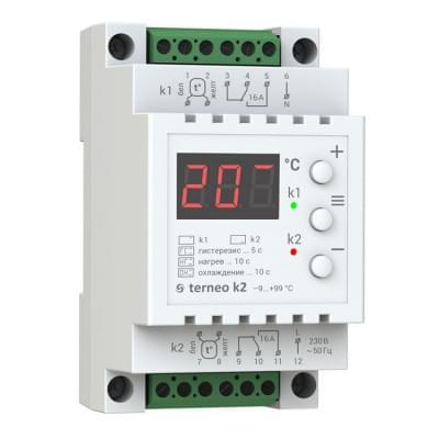 Купить Терморегулятор для теплого пола Terneo k2  Терморегуляторы Terneo для теплого пола polvteplo.ru