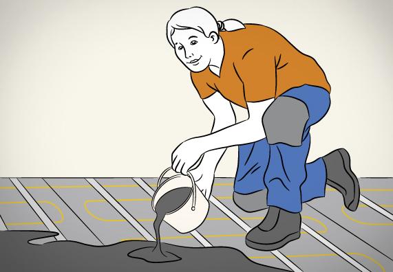 Шаг за шагом 5 - Укладка нагревательных матов