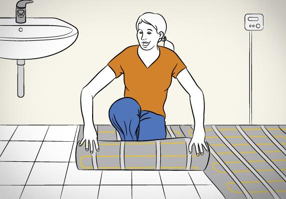 Подготовка подложки для установки подогрева пола